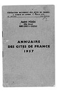 Couverture annuaire 1957 des Gîtes de France Ain